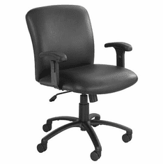 500 Lbs. Capacity Mid Back Big & Tall Chair in Black Fabric or Vinyl