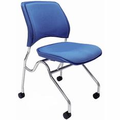 Padded Flip Seat Nesting Chair w/ 300-Pound Capacity