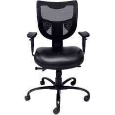 24/7 400 Lbs. Capacity Multi-Shift Black Chair w/Antimicrobial Vinyl Seat