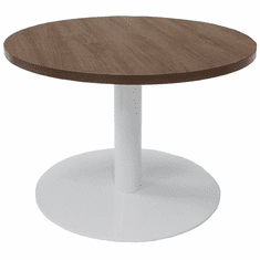 """30"""" Round Metal Disc Base Waiting Room Table"""