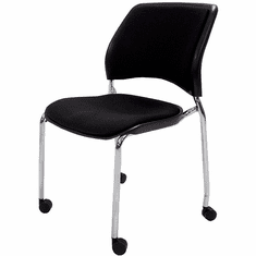 300 Lbs.Capacity Padded Stacking Chair on Casters