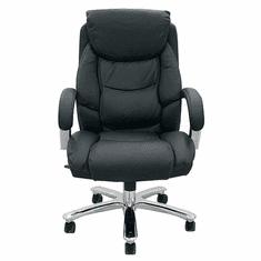 "500 Lbs. Capacity Big & Tall Leather Desk Chair w/ 24""W Seat"