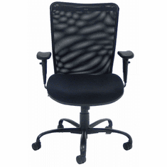 ErgoBuilt 24/7 400 Lbs. Capacity Black Mesh Office Chair