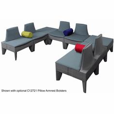 Gray U-Shape Corner Reception Seating Package
