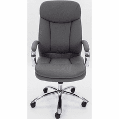 High Back Pillow Cushion Swivel Conference Chair in Gray or Black