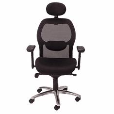 Knee-Tilt Mesh Back Ergonomic Chair w/Headrest