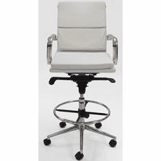 """Leather Soft Pad Office Stool w/27.5""""-36"""" Seat Height"""