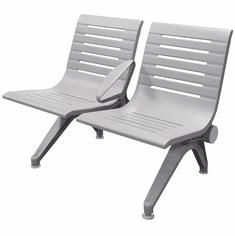 Aero Steel Public Beam Seating Series - 2-Seat Beam Seater in Gray Mist