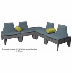Gray L-Shape Corner Reception Seating Package
