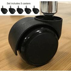 Optional Set of 5 Soft Casters for Hard Floors