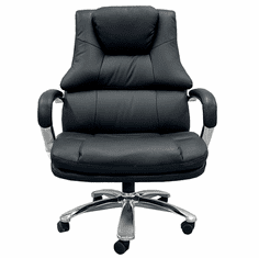 """500 Lbs. Capacity Big & Tall Extra Wide  Black Leather Office Chair w/ 28""""W Seat"""