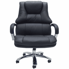 """500 Lbs. Capacity Big & Tall Extra Wide  Black Leather Office Chair w/ 28""""W Seat - <font color=red><b>IN STOCK IN AUGUST </b></font>"""