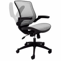 Elastic All-Mesh Ergonomic Office Chair w/ Flip up Armrests