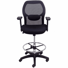 "Ergonomic Mesh Back Ultra Office Stool w/27""-30"" Seat Height"