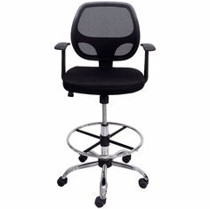 """Ergonomic Mesh Drafting Stool w/23""""-30"""" Seat Height"""