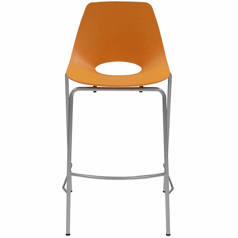 300 Lbs. Capacity Molded Plastic Shell Stackable Office Stool w/29.63 Seat Height