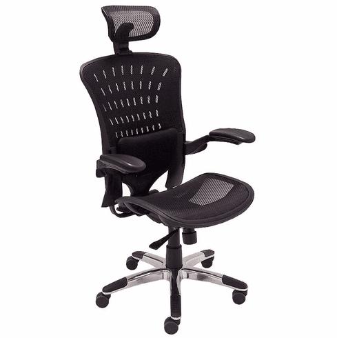 350 Lbs. Capacity ErgoFlex Ergonomic All-Mesh Office Chair w/Headrest