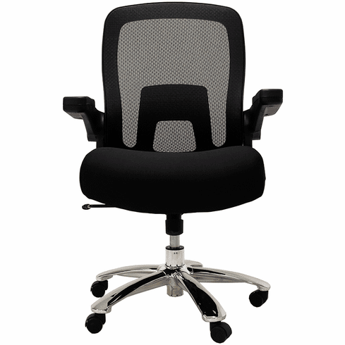 500 Lbs. Capacity Mesh Black Big & Tall Office Chair w/Flip Up Arms