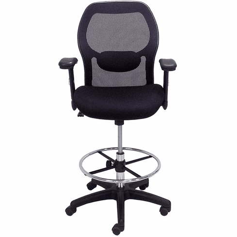 Ergonomic Mesh Back Ultra Office Stool w/21-28 Seat Height
