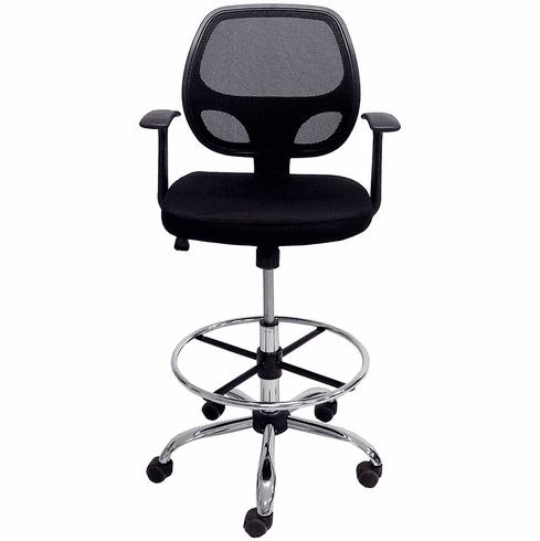 Ergonomic Mesh Drafting Stool w/23-30 Seat Height