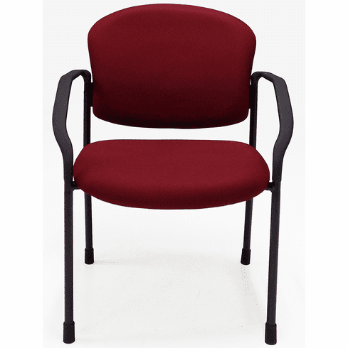 Fabric Seminar/Reception Chair with Casters & Glides