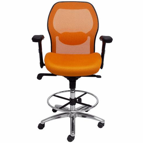 "Advanced Ergonomic Ultra Drafting Stool w/27""-30"" Seat Height"