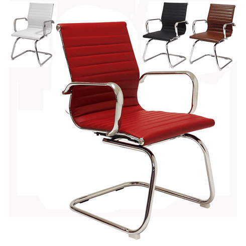 Contemporary Classic Leather Office Guest Chair