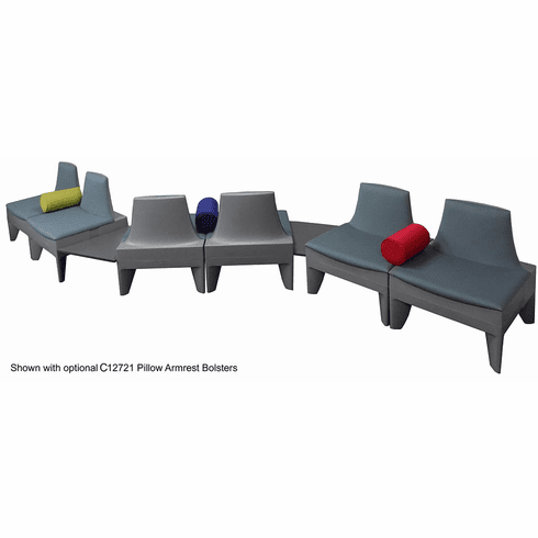 Gray S-Shape Reception Seating Package