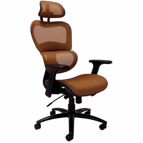 HumanFlex Elastic All Mesh Ergonomic Office Chair w/Headrest