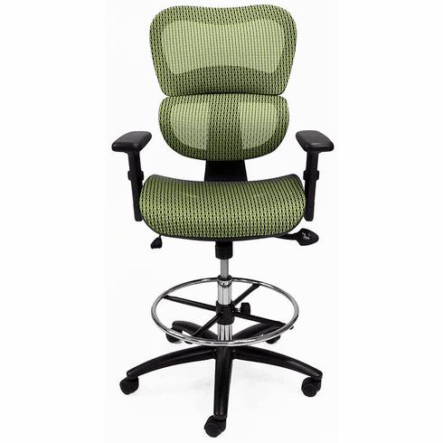 HumanFlex Elastic All Mesh Ergonomic Office Stool - 22-30 Seat Ht.