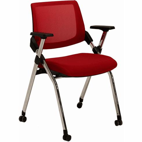 Mesh Back Nesting Chair w/ Flip Seat