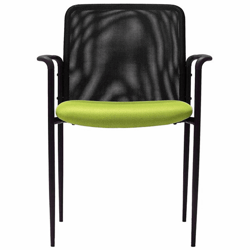 Mesh Stackable Guest Office Chair w/Color Burst