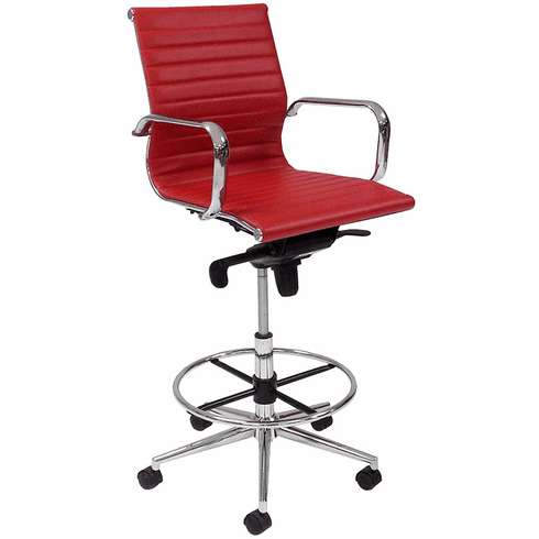 Modern Classic Office Stool w/23-32 Seat Height