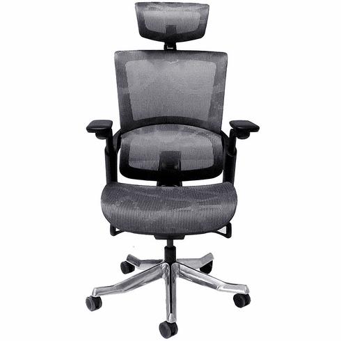 300 Lbs. Capacity Premium Elastic Mesh Office Chair w/Headrest