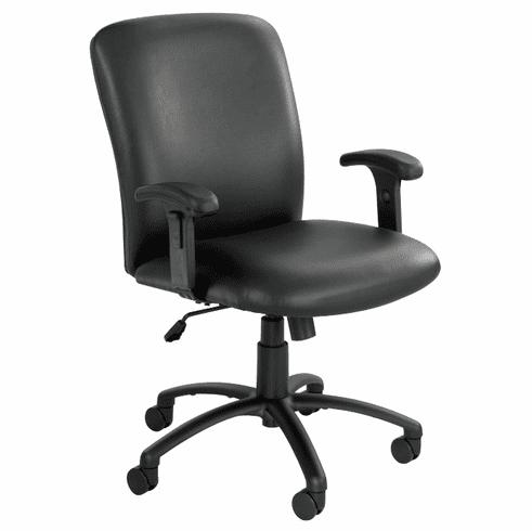 500 Lbs. Capacity High Back Big & Tall Chair in Black Fabric or Vinyl