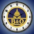 B&O Railroad 1 Wall Clock, LED Lighted
