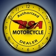 BSA Motorcycle Wall Clock, LED Lighted