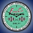 Funny Car Parking Wall Clock, LED Lighted: Racing Theme