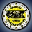 Jenkins Wall Clock, LED Lighted: Racing Theme