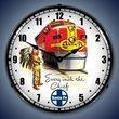 Santa Fe Chief Railroad Wall Clock, LED Lighted