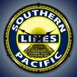 Southern Pacific Railroad Wall Clock, LED Lighted