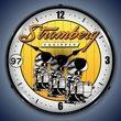 Stromberg Carburetor Wall Clock, LED Lighted