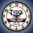 Tydol Gas Wall Clock, LED Lighted: Gas / Oil Theme