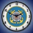US Coast Guard Wall Clock, LED Lighted