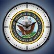 US Navy Wall Clock, LED Lighted