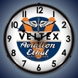 Veltex Aviation Gas Wall Clock, LED Lighted: Airplane Theme