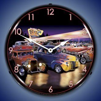 Bruce Kaiser Art Automotive Wall Clocks, LED Lighted