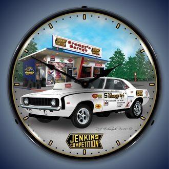 Chevy Camaro Wall Clocks, LED Lighted: 1967-2014