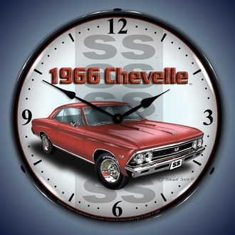 Chevy Chevelle Wall Clocks, LED Lighted: 1965-1971
