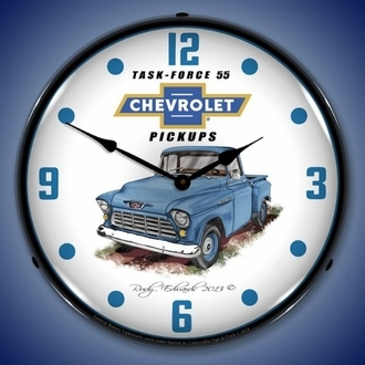 Chevy / GMC Truck Wall Clocks, LED Lighted